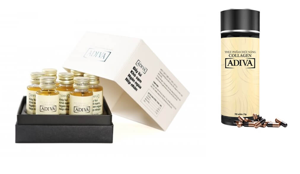 Collagen Adiva dạng nước và dạng viên rất dễ sử dụng