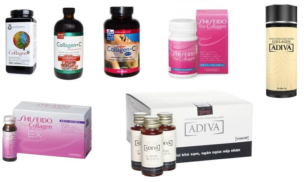Top 7 Collagen loại nào tốtnhất hiện nay giữa Shiseido, youtheory, adiva