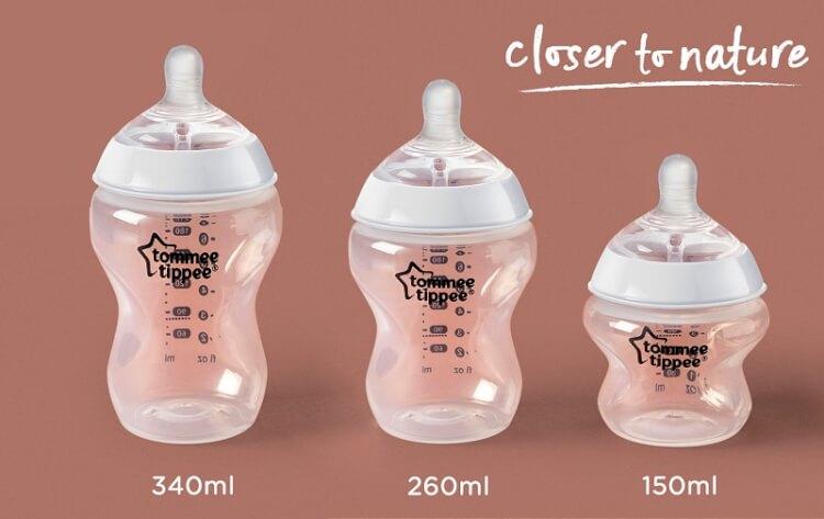 Bình sữa Tommee Tippee có nhiều kích thước đa dạng
