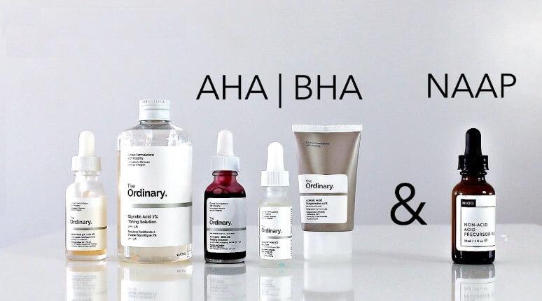 AHA, BHA sử dụng thường xuyên trong các serum trị mụn