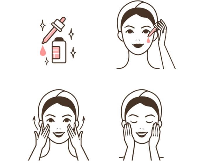 Cách áp dụng serum lên mặt