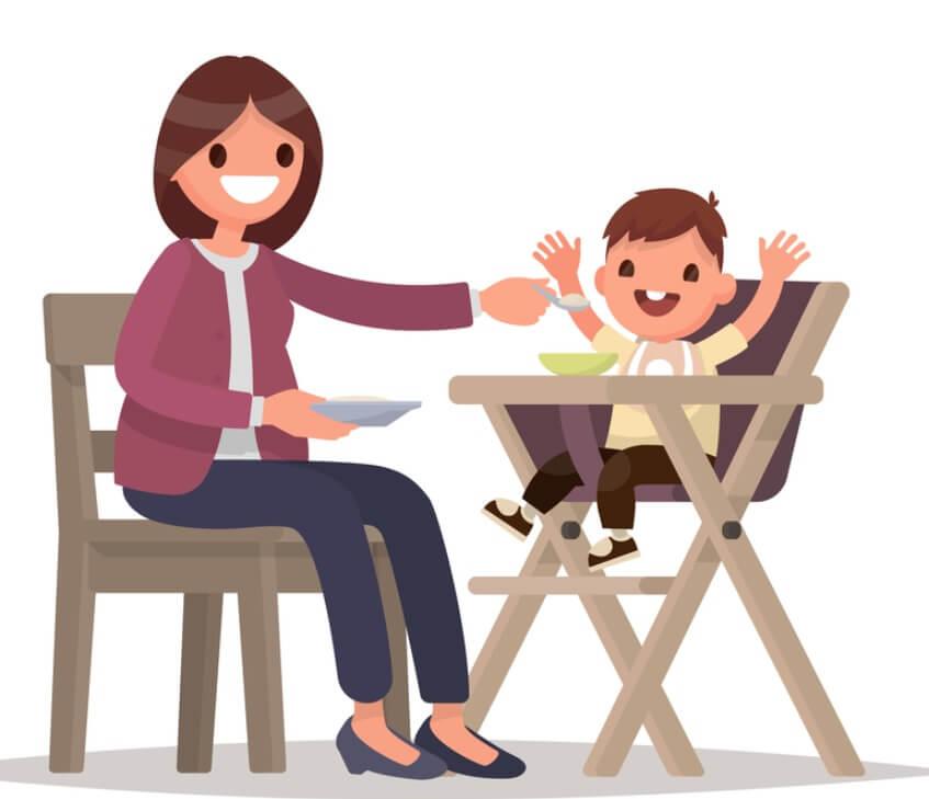 Ghế ăn dặm giúp bé hào hứng khi ăn uống