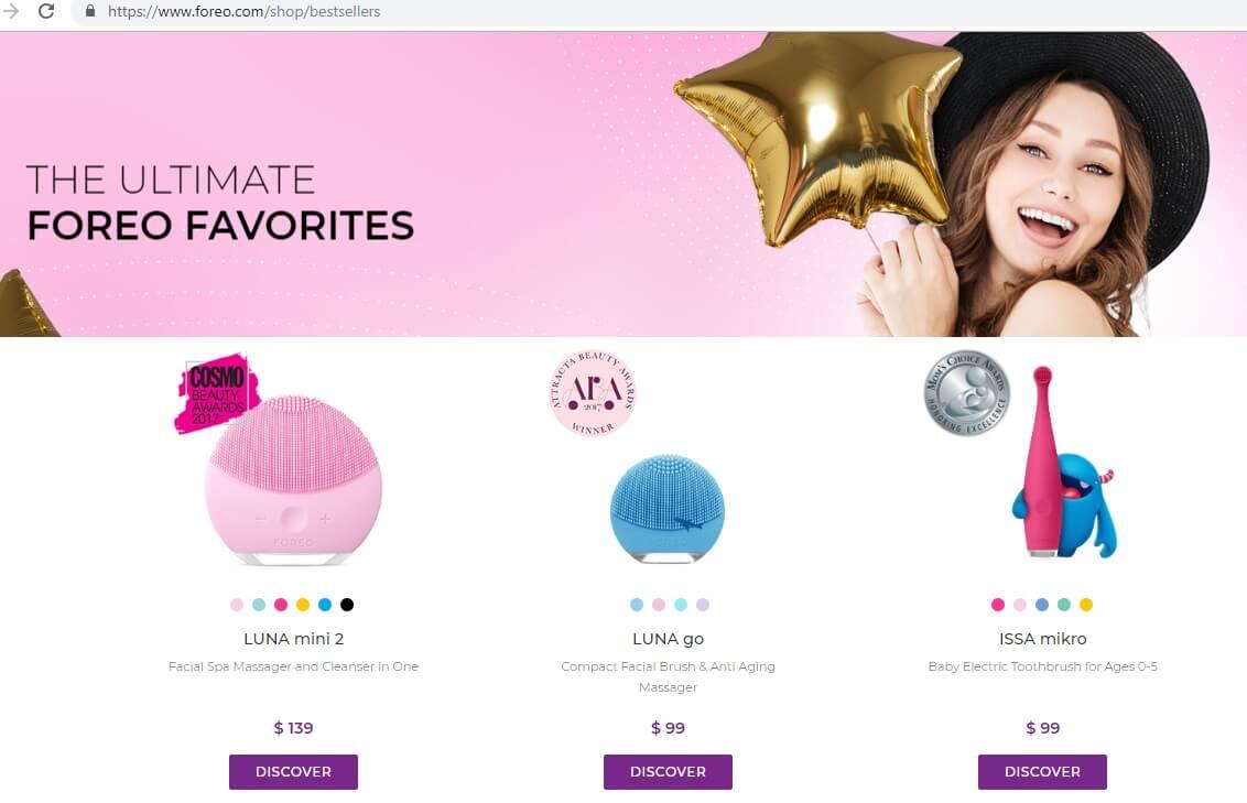 Mua hàng chính hãng trực tiếp trên web Foreo.com để nhận được nhiều ưu đãi 1