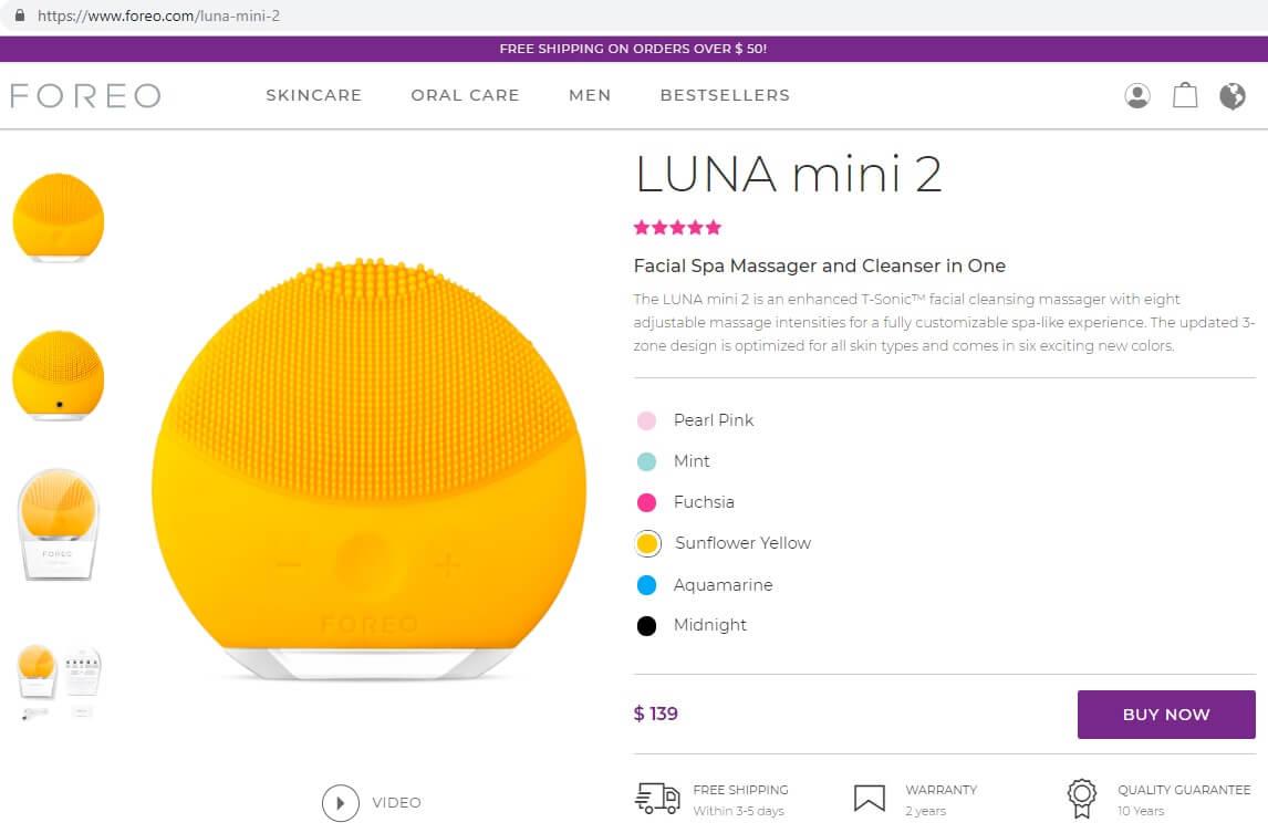 Truy cập vào trang web có sản phẩm cần mua và chọn màu mình thích