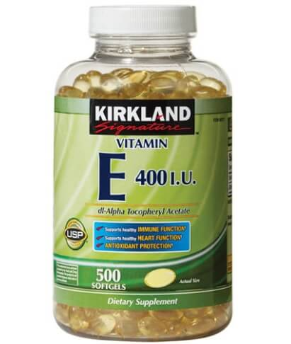 Viên uống Vitamin E 400 IU 500 Kirkland USA