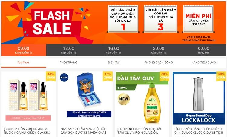 Shopee Flash Sale khuyến mãi lớn sinh nhật 12/12