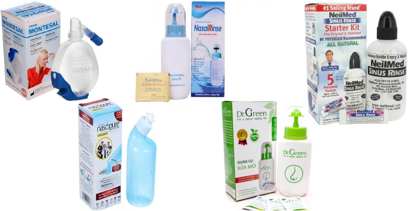 Bình rửa mũi loại nào tốt, dễ sử dụng nhất hiện nay