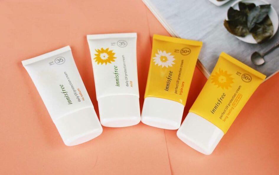 Kem chống nắng Innisfree có trên 10 loại để bạn lựa chọn
