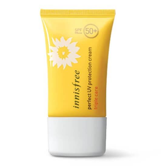 Kem chống nắng Innisfree triple care có thể sử dụng cho mọi loại da