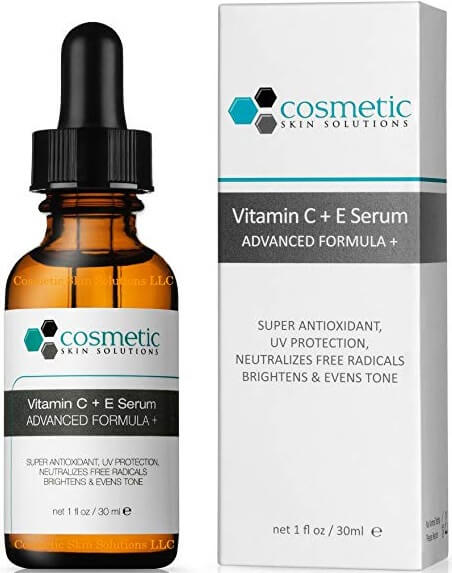 Serum Cosmetic Skin Solutions Vitamin C E