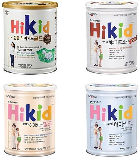 Sữa Hikid có 4 vị để lựa chọn