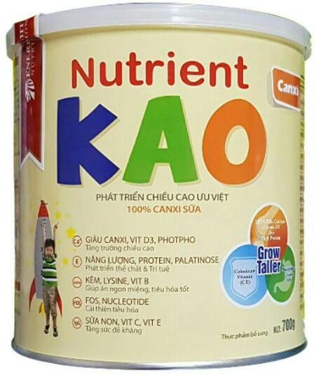 Sữa tăng chiều cao Nutrient Kao giúp phát triển chiều cao vượt trội
