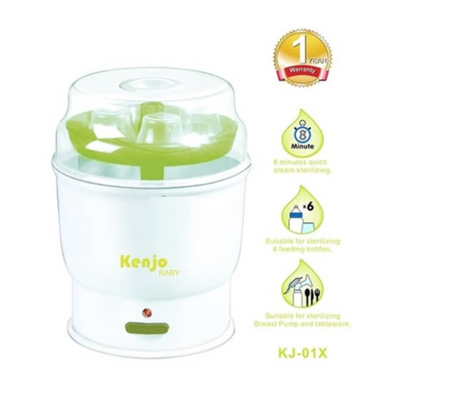 Máy Tiệt Trùng Bình Sữa Siêu Tốc Kenjo Kj-01x cũng có giá rất phải chăng
