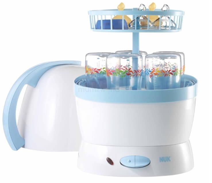 Máy tiệt trùng bình sữa Nuk cũng là sản phẩm được nhiều mẹ lựa chọn