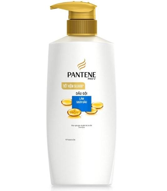 Dầu gội pantene trị gàu phù hợp với da đầu khô