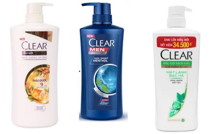 Dầu gội trị gàu Clear có rất nhiều dòng sản phẩm khác nhau