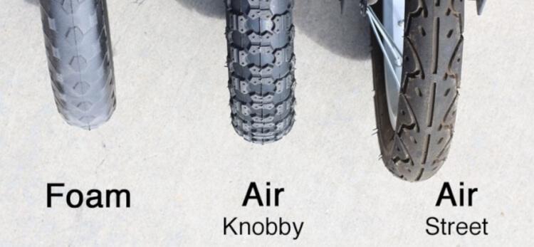 Lốp xe thăng bằng cho bé có thể làm bằng nhựa EVA đặc hoặc cao su