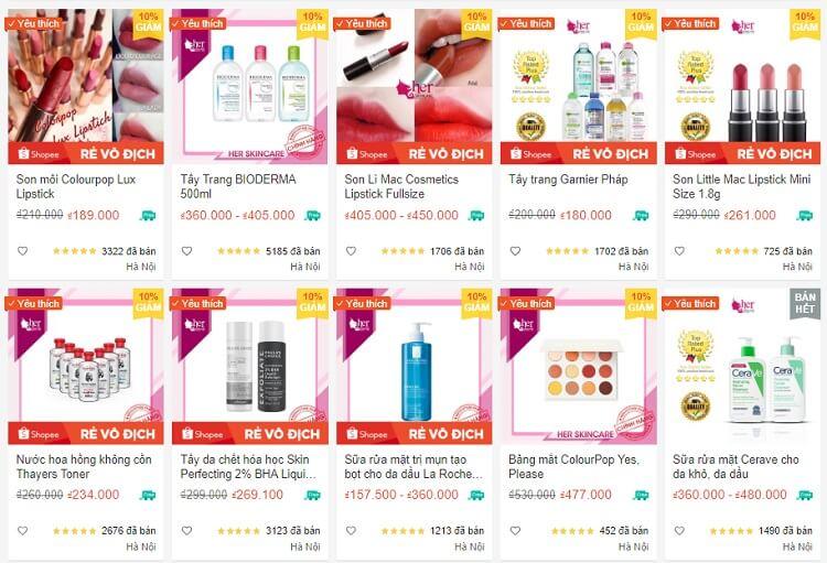 Một số sản phẩm bán chạy của Her Skincare