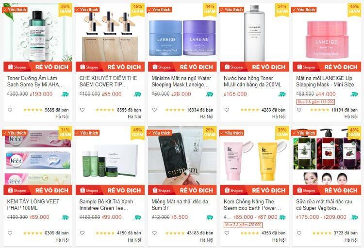 Authentic Cosmetic đang bán hàng chục nghìn sản phẩm mỗi tháng trên Shopee