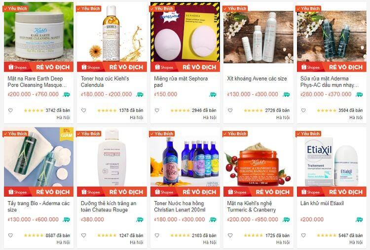 Một số sản phẩm bán chạy của Hin Pháp