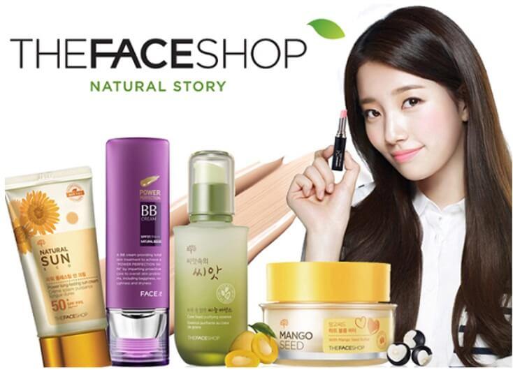 The face Shop là dòng mỹ phẩm thiên nhiên với giá tương đối rẻ