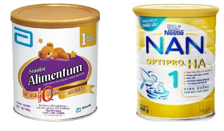 Similac Alimentum và NAN là hai dòng sữa thủy phân rất được ưa chuộng