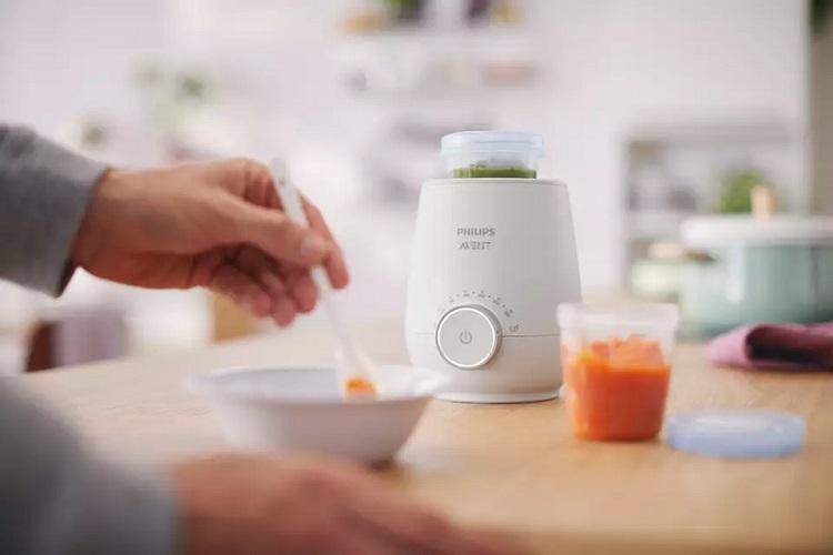 Máy hâm sữa Philips Avent có thể hâm nóng thức ăn cho bé